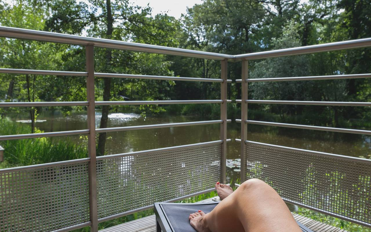 Terrace overlooking the river weekend metz