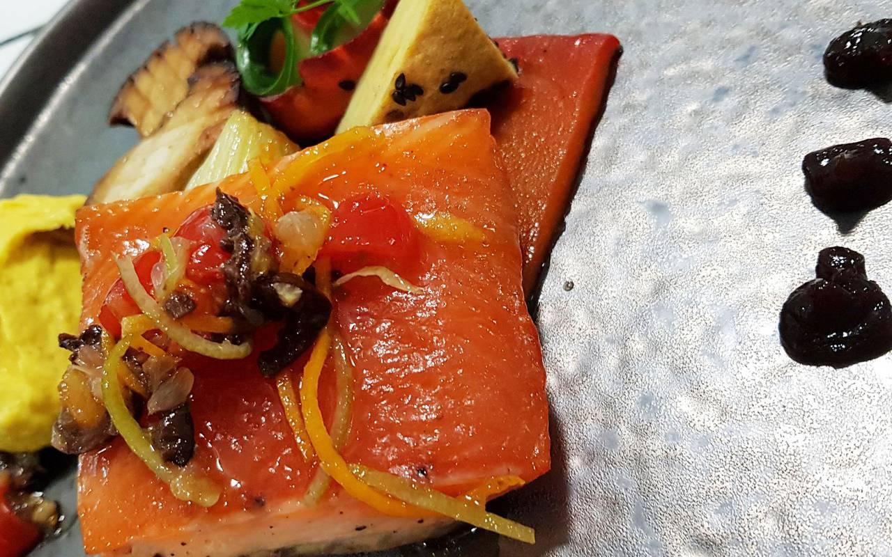 salmon dish restaurant moselle