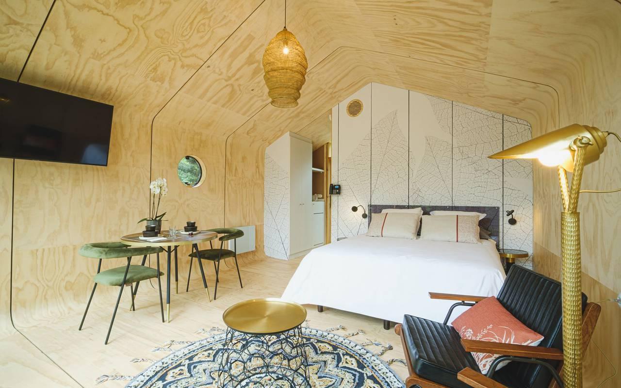 Chambre en bois location insolite grand est