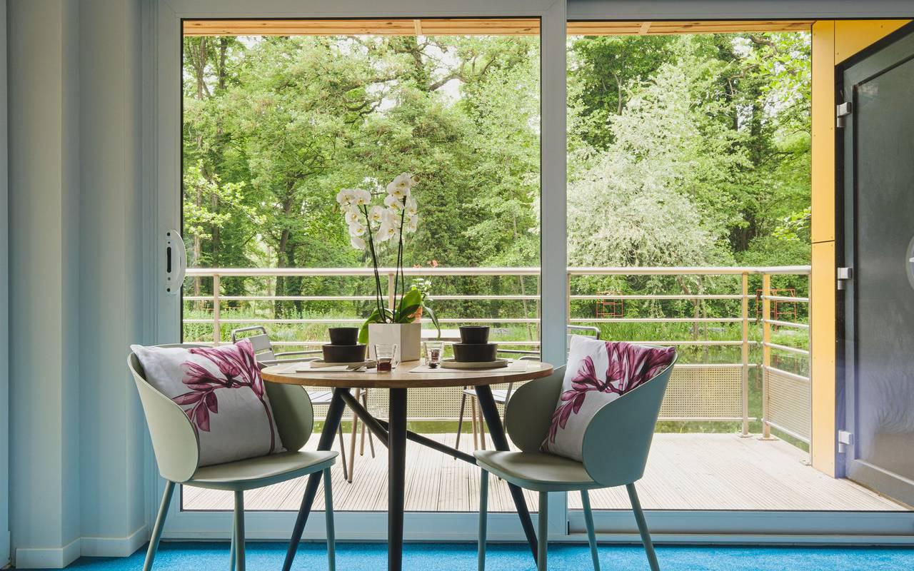 Chambre avec terrasse hebergement moselle